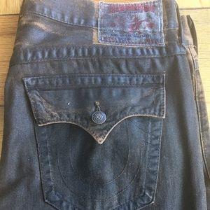 💧💧  True Religion brown wash jeans  38/34💧💧💧